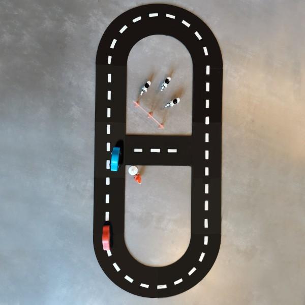 Circuit voiture en bois - 88 x 34 cm - 11 pcs - Photo n°2