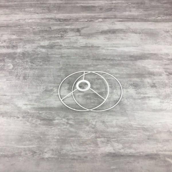 Set d'Ossature de Ø 13cm pour abat-jour, petit Anneaux ronds en epoxy blanc, pour Douille E27, 38mm - Photo n°1