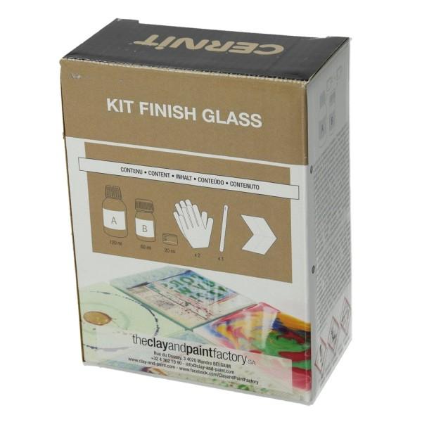 Kit Résine epoxy cernit finish glass, 120 ml + 60 ml, avec accessoires et mode d'emploi - Photo n°3