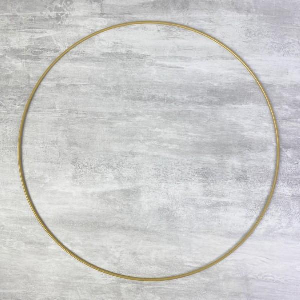 Cercle métallique doré ancien, diam. 40 cm pour abat-jour, Anneau epoxy or Attrape rêves - Photo n°1