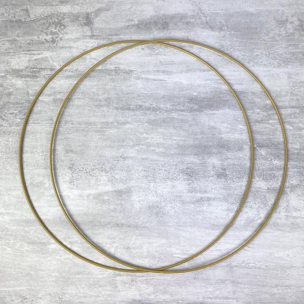 Lot de 2 Cercles métalliques doré ancien, diam. 40 cm pour abat-jour, Anneaux epoxy Attrape rêves - Photo n°1
