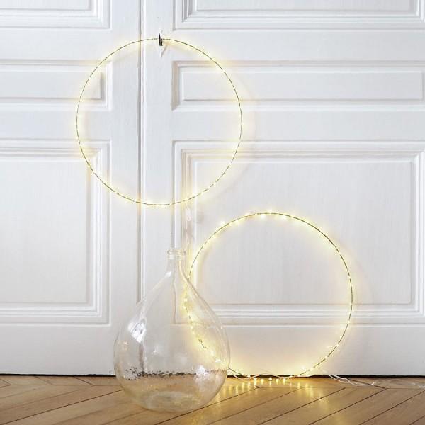 Lot de 2 Cercles métalliques doré ancien, diam. 30 cm pour abat-jour, Anneaux epoxy Attrape rêves - Photo n°2
