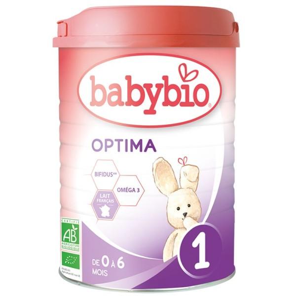 Lait Optima 1 (boite de 800g) - Formule 2020 Premium au Lait de Vache français - Babybio - Photo n°1
