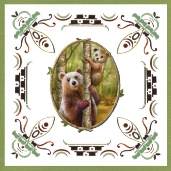 Dot and do 199 - kit Carte 3D - Animaux de la forêt - Photo n°4