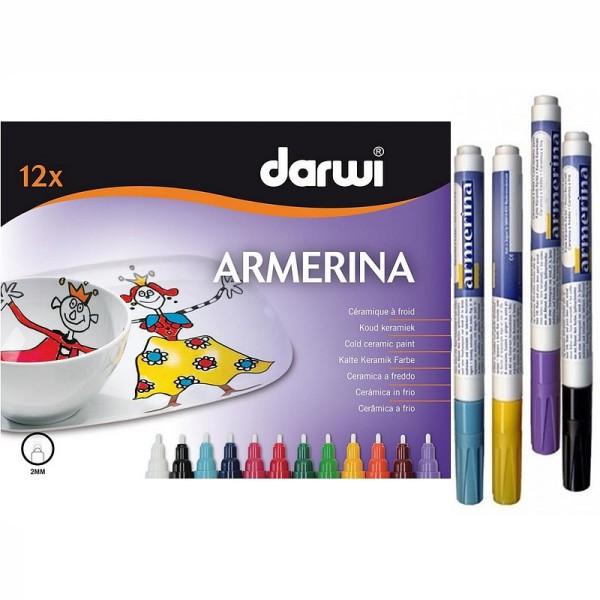 Marqueur 6 ml céramique à froid Armerina, lot de 12 Feutres, couleurs assorties - Photo n°1