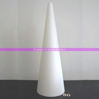 Cône Géant en Polystyrène EM hauteur 80 cm soit 800 mm, densité sup&eacut