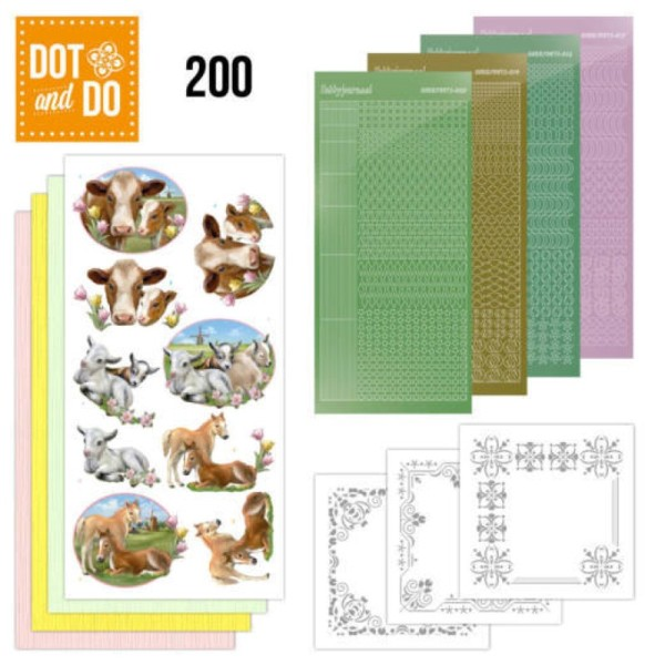 Dot and do 200 - kit Carte 3D - Animaux de la ferme - Photo n°1