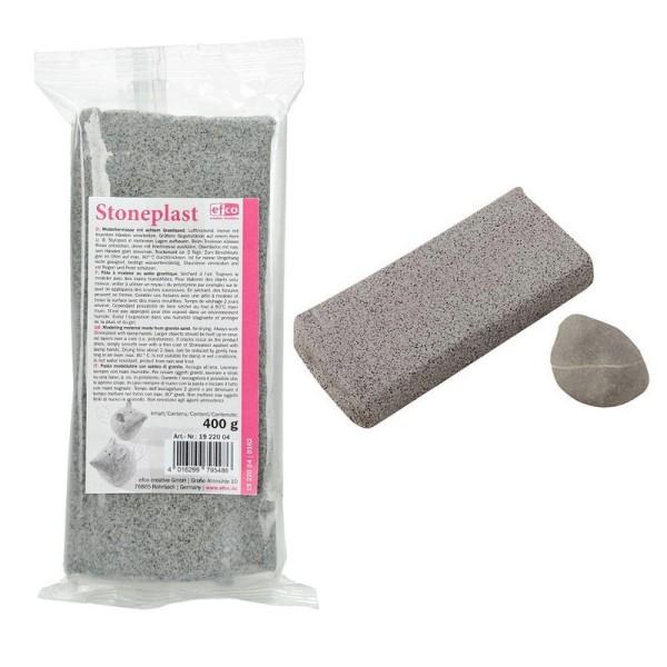 Pâte à modeler aspect Pierre, 400 g, en véritable sable de granit, autodurcissante - Photo n°1