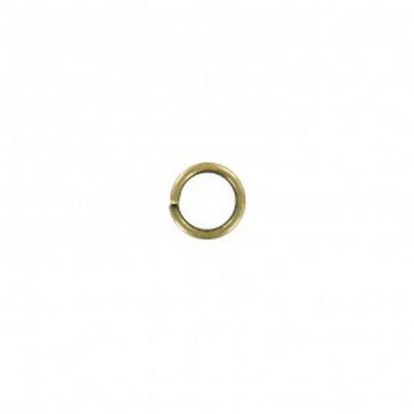 50 Anneaux Double De Jonction 7mm Bronze - Photo n°2