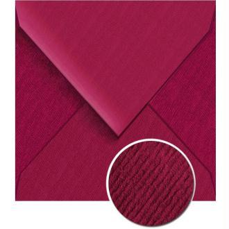 Enveloppe doublée Vergé de France 140 x 140 Framboise x 25