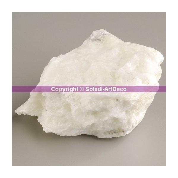 15 kilos de morceaux de pierre tendre Stéatite Blanche, emballé individuellement - Photo n°1