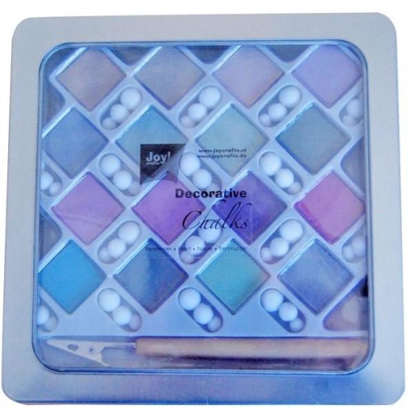 Palette de 16 craies pearl art - Joy ! Craft - Photo n°1