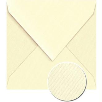Enveloppe doublée Vergé de France 140 x 140 Ivoire x 25