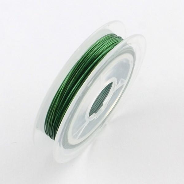 Fil acier câblé 0.38 mm vert x 10 m - Photo n°1