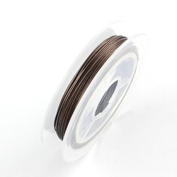 Fil acier câblé 0.38 mm marron x 10 m - Photo n°1