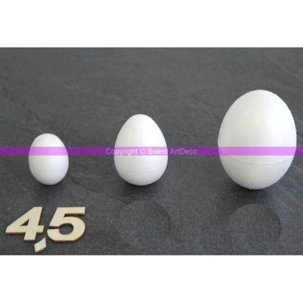 Oeuf polystyrène 4,5 cm soit 45 mm, densité supérieure - Photo n°1