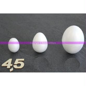 Oeuf polystyrène 4,5 cm soit 45 mm, densité supérieure