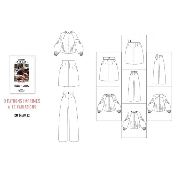 Livre couture - Les cahiers Artesane N°4 - Drôles de femmes - Photo n°6