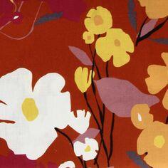 Tissu coton Frou Frou - Cosmos Ambre - Vendu par 10 cm