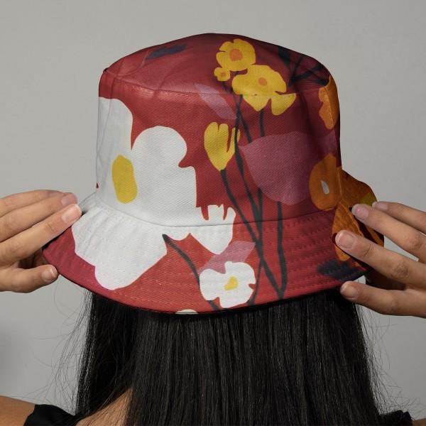 Tissu coton Frou Frou - Cosmos Ambre - Vendu par 10 cm - Photo n°2