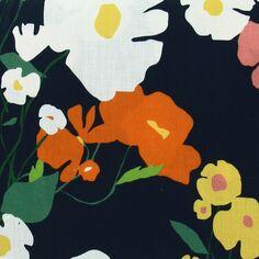 Tissu coton Frou Frou - Cosmos Navy - Vendu par 10 cm