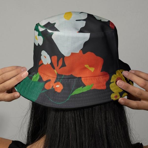 Tissu coton Frou Frou - Cosmos Navy - Vendu par 10 cm - Photo n°2