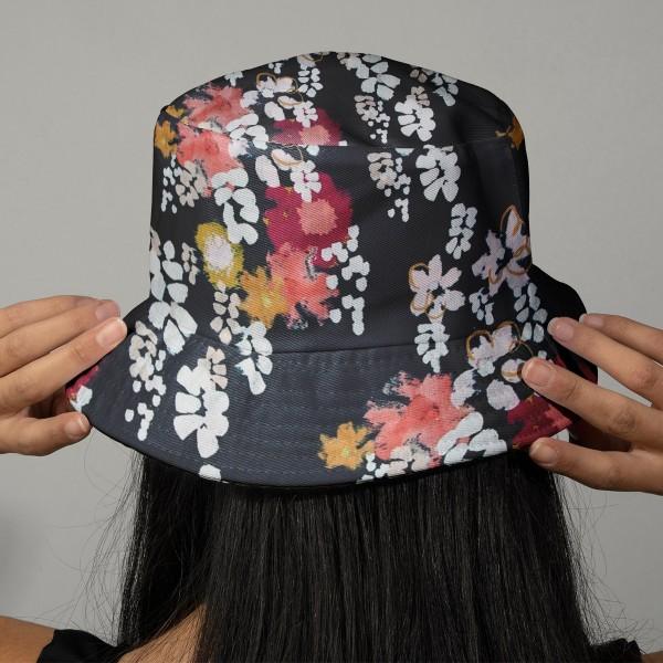 Tissu coton Frou Frou - Glycine Navy - Vendu par 10 cm - Photo n°2