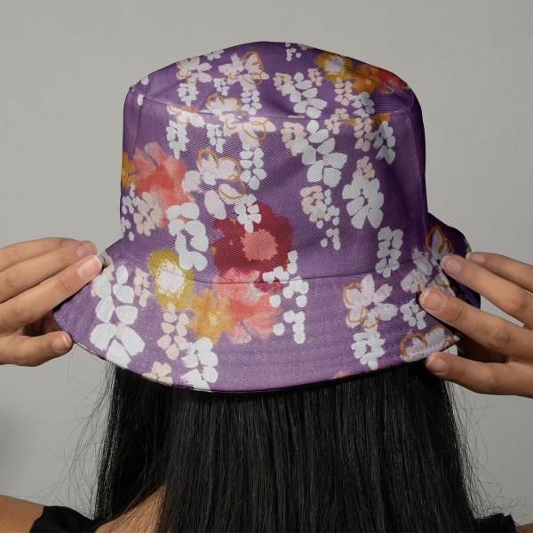 Tissu coton Frou Frou - Glycine Parme - Vendu par 10 cm - Photo n°2