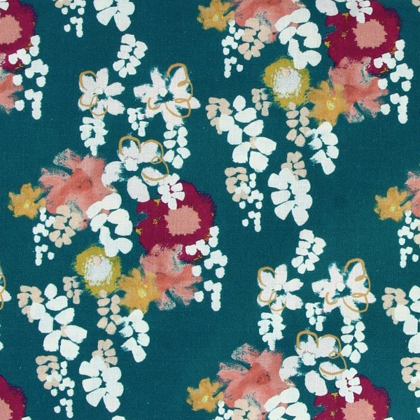 Tissu coton Frou Frou - Glycine Bora Bora - Vendu par 10 cm - Photo n°1