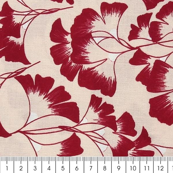Tissu coton Frou Frou - Ginkgo Rose - Vendu par 10 cm - Photo n°2