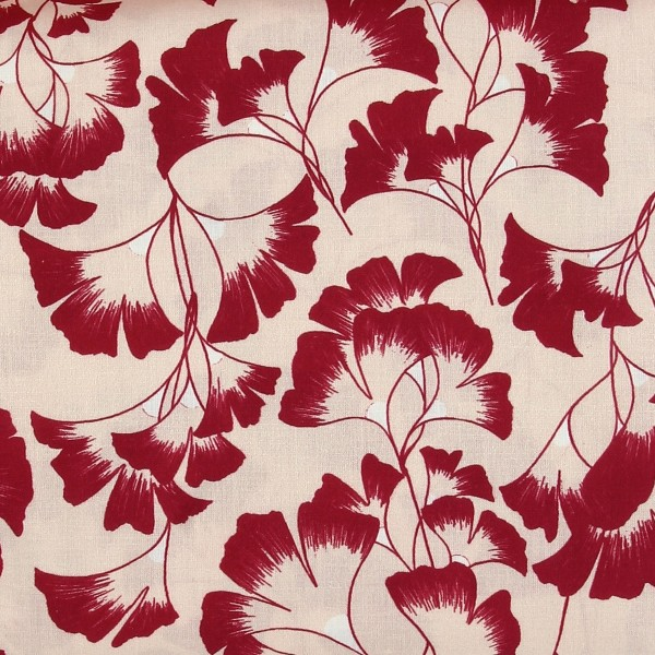 Tissu coton Frou Frou - Ginkgo Rose - Vendu par 10 cm - Photo n°1