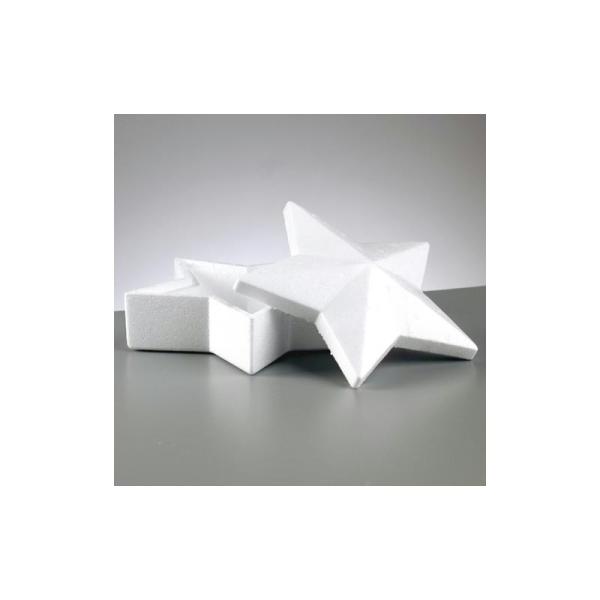 Boite forme Etoile à 5 branches avec couvercle, 19cm et 9cm de haut, en polystyrène - Photo n°1