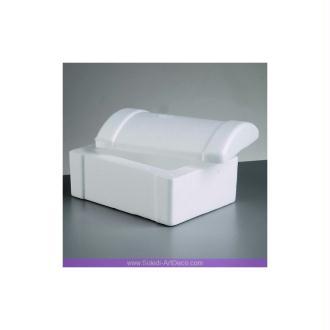 Boite Coffret rectangulaire avec couvercle, Long. 18cm, Haut. 9cm, en polystyrène