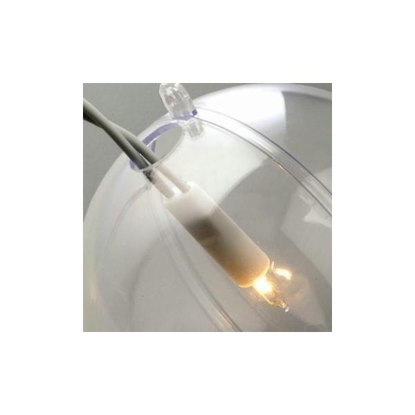 Boule perforée en plastique cristal transparent séparable perforée, diam. 12 cm - Photo n°1