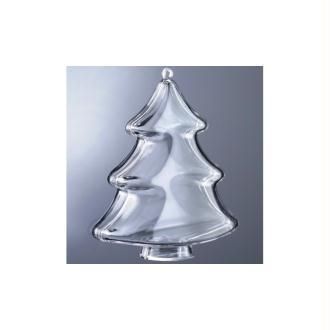 Sapin en plastique cristal alimentaire transparent, séparable, 10 cm, Contenant sécabl
