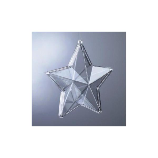 Etoile 3d Plastique Cristal Alimentaire Transparent Séparable 8 Cm Contenant Sécabl Etoile à Suspendre Creavea