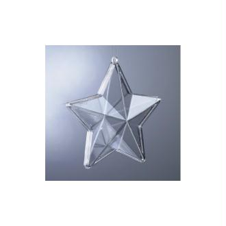Etoile 3D plastique cristal alimentaire transparent, séparable, 8 cm, Contenant sécabl