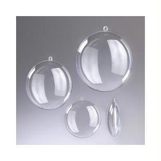 Médaillon en plastique cristal transparent séparable, Contenant sécable de diam
