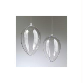 Oeuf en plastique cristal transparent séparable, Contenant sécable 6 cm