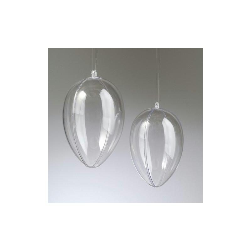 oeuf en plastique cristal transparent s parable contenant s cable 8 cm oeuf d corer creavea. Black Bedroom Furniture Sets. Home Design Ideas