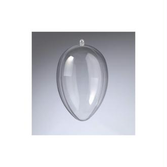 Oeuf en plastique cristal transparent séparable, Contenant sécable 12 cm