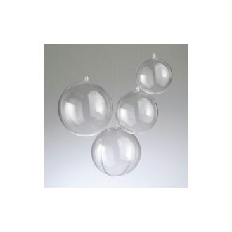 Boule en plastique cristal transparent séparable, Contenant sécable de diam. 7 cm, &ea