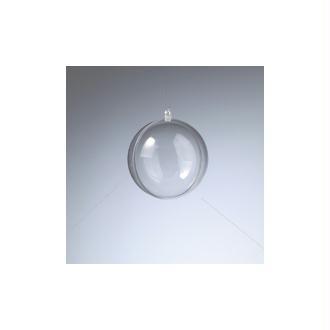 Boule en plastique cristal transparent séparable, Contenant sécable de diam. 8 cm