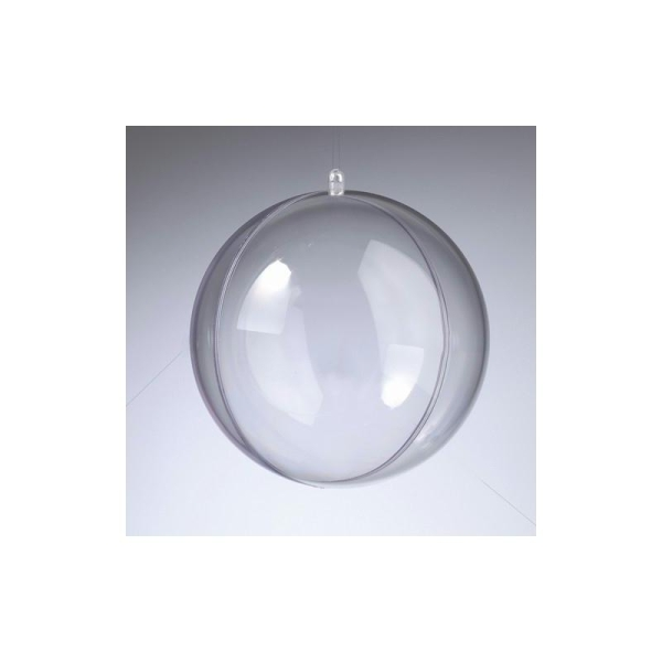 Boule en plastique cristal transparent séparable, Contenant sécable diam. 14 cm - Photo n°1