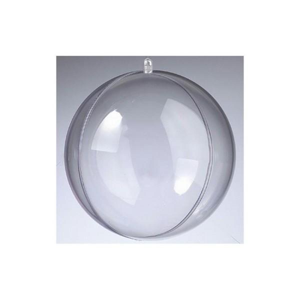 Boule en plastique transparent séparable, Contenant sécable diam. 16 cm - Photo n°1