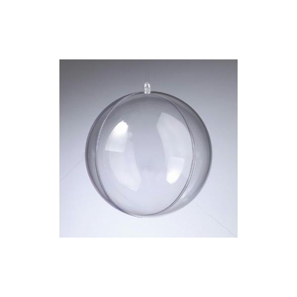 Boule en plastique cristal transparent séparable, Contenant sécable diam. 20 cm - Photo n°1