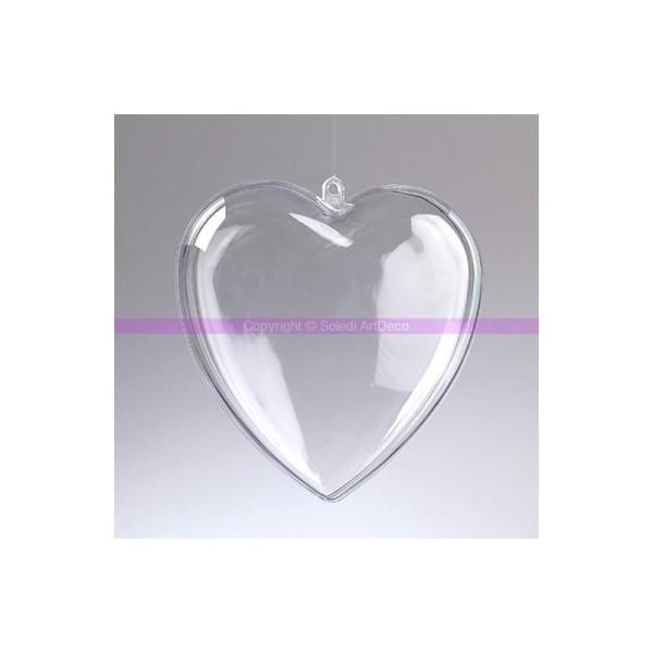Coeur en plastique alimentaire cristal transparent séparable, Contenant sécable de 14 - Photo n°1