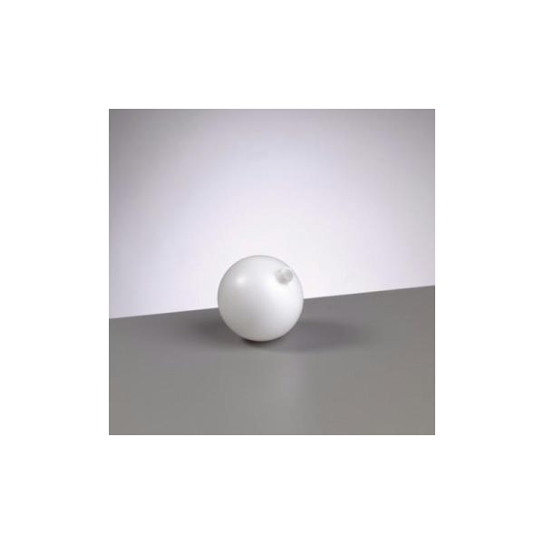 Boule en plastique blanc, diam. 7 cm - Photo n°1