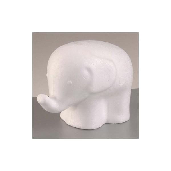 Eléphant en polystyrène, 14,5 cm - Photo n°1