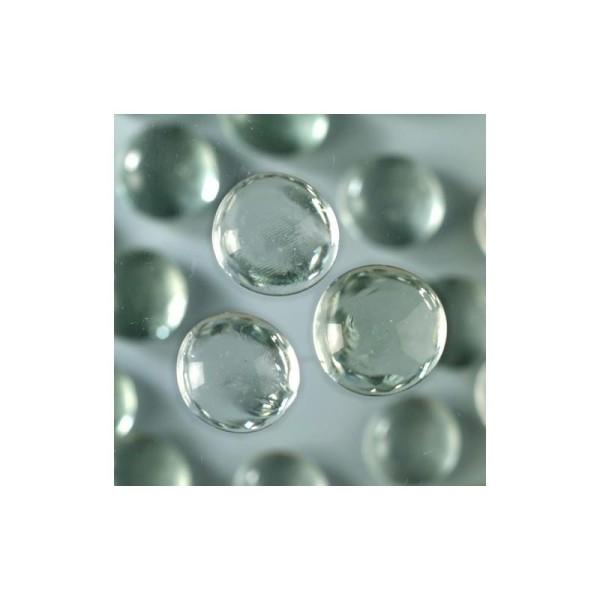 Lot d'env. 250 Galets Nuggets de verre lisse coloré de 13 à 15 mm, ép. 8 mm, 1kg - Photo n°1
